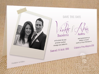 Save the date de Violeta & Alexis